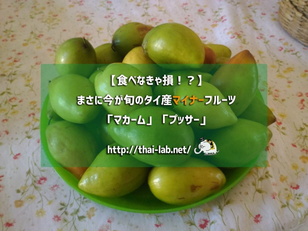 【食べなきゃ損!?】まさに今が旬のタイ産マイナーフルーツ「マカーム」「プッサー」