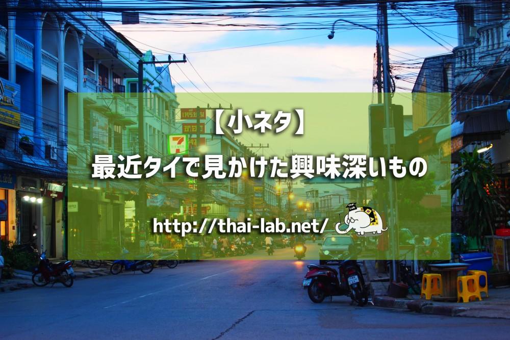 デング熱対策&茹で筍 【タイで見かけた興味深い小ネタ】