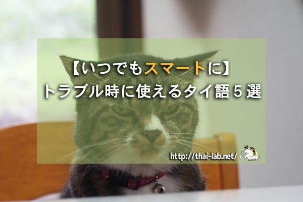 【いつでもスマートに】トラブル時に使えるタイ語5選