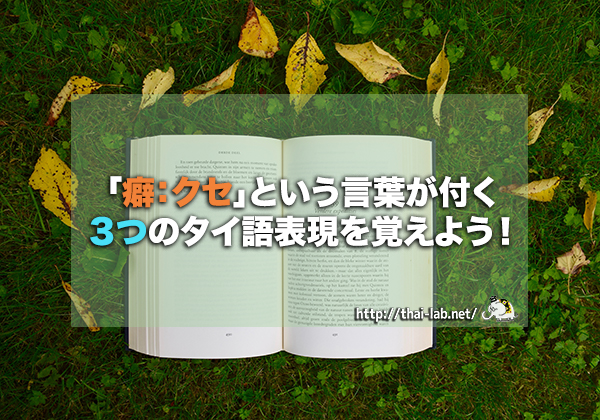 「癖:クセ」という言葉が付く3つのタイ語表現を覚えよう!
