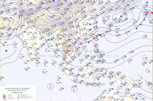 タイ気象局が4月1日よりタイ広域にわたって大嵐が到来すると予報